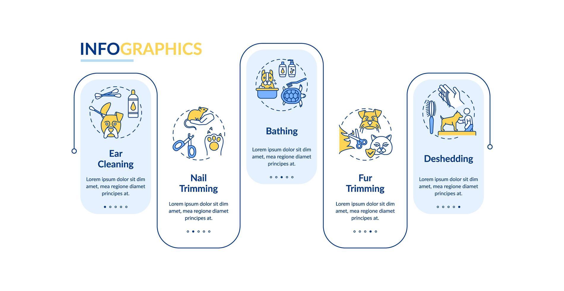 Pflegedienste, Vektor-Infografik-Vorlage vektor