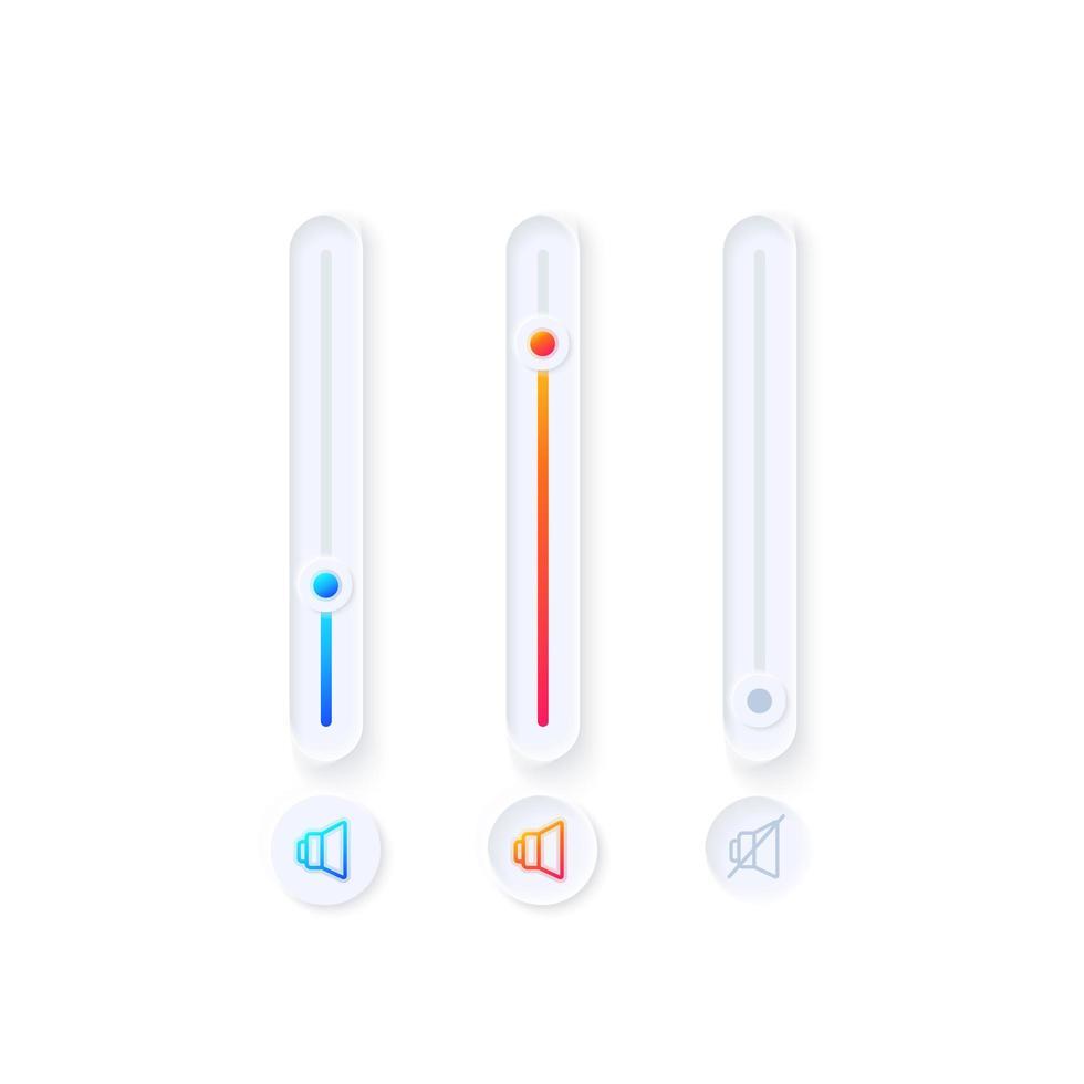 Tuner UI Elemente Kit vektor