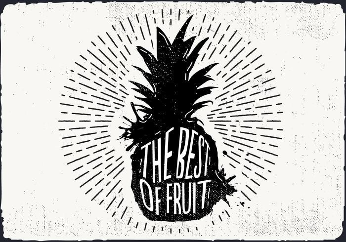 Freie Hand Drawn Ananas Hintergrund vektor