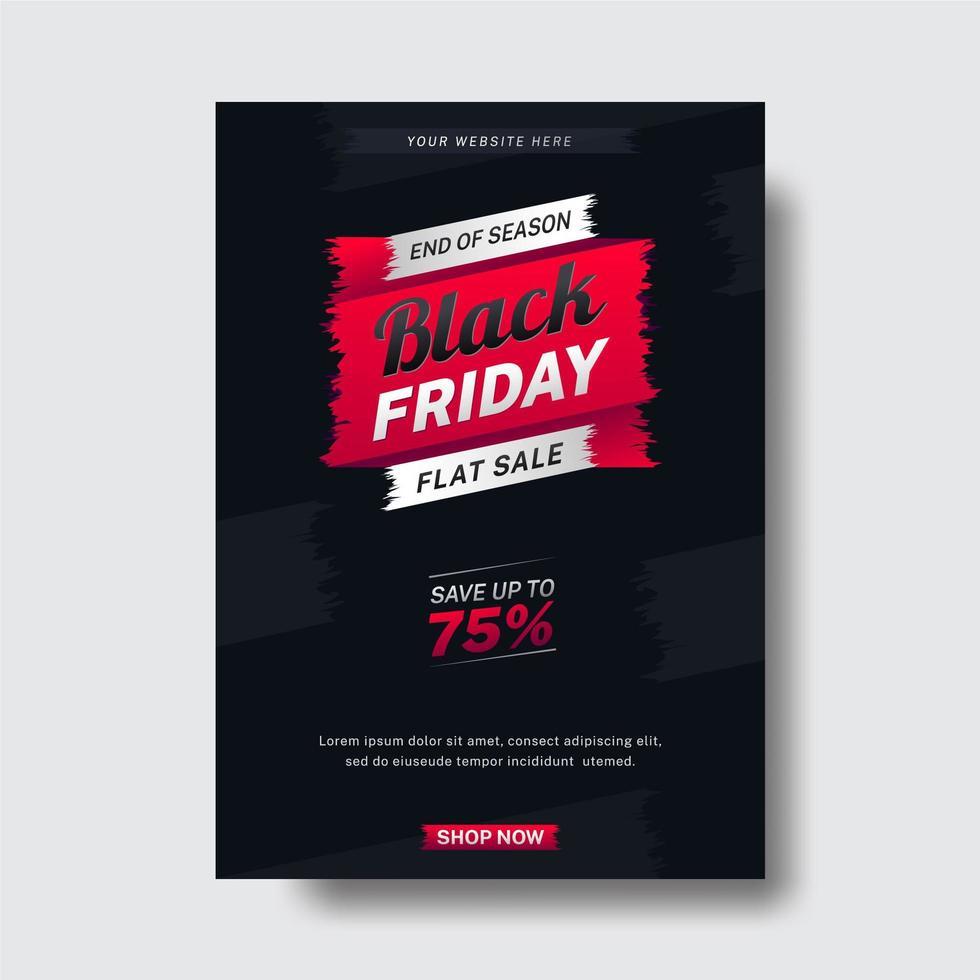 svart fredag reklamblad vektor