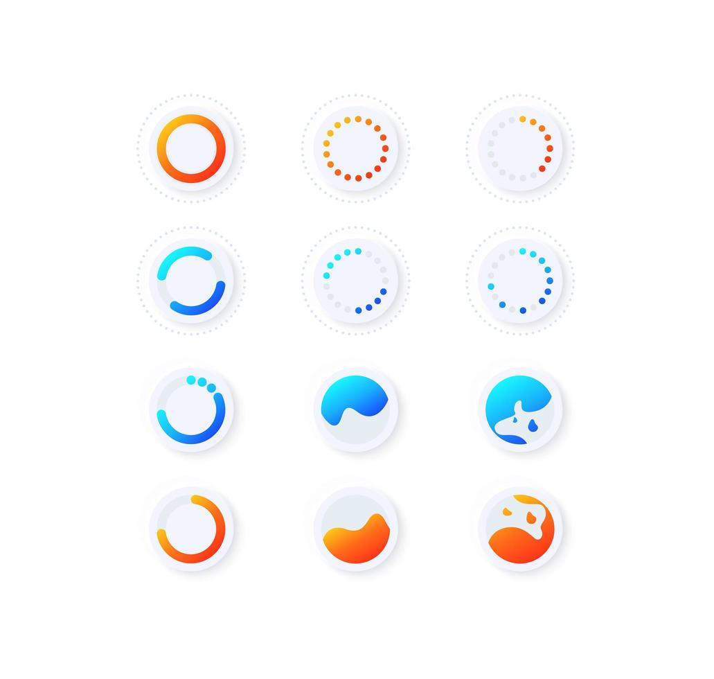 Progression UI Elemente Kit vektor