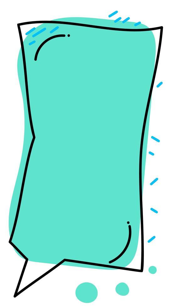 vertikalt lock med ram och tom pratbubbla vektor
