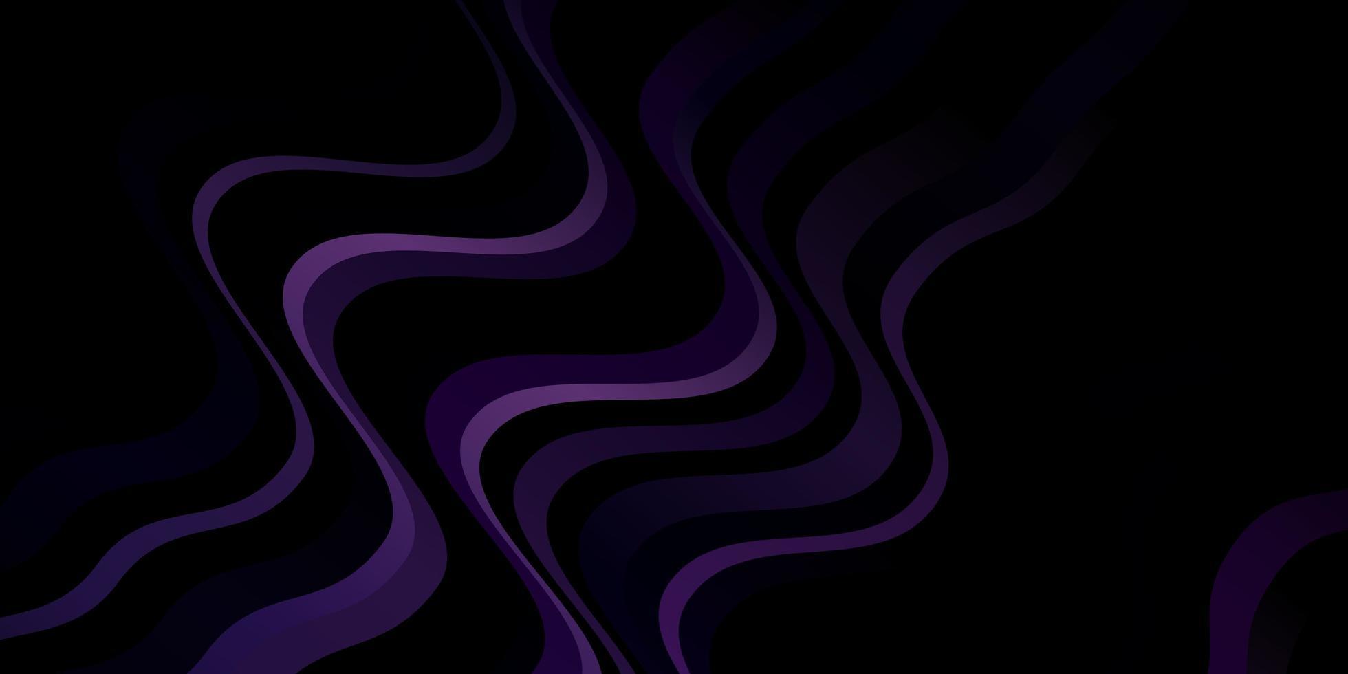 mörk lila bakgrund med kurvor. vektor