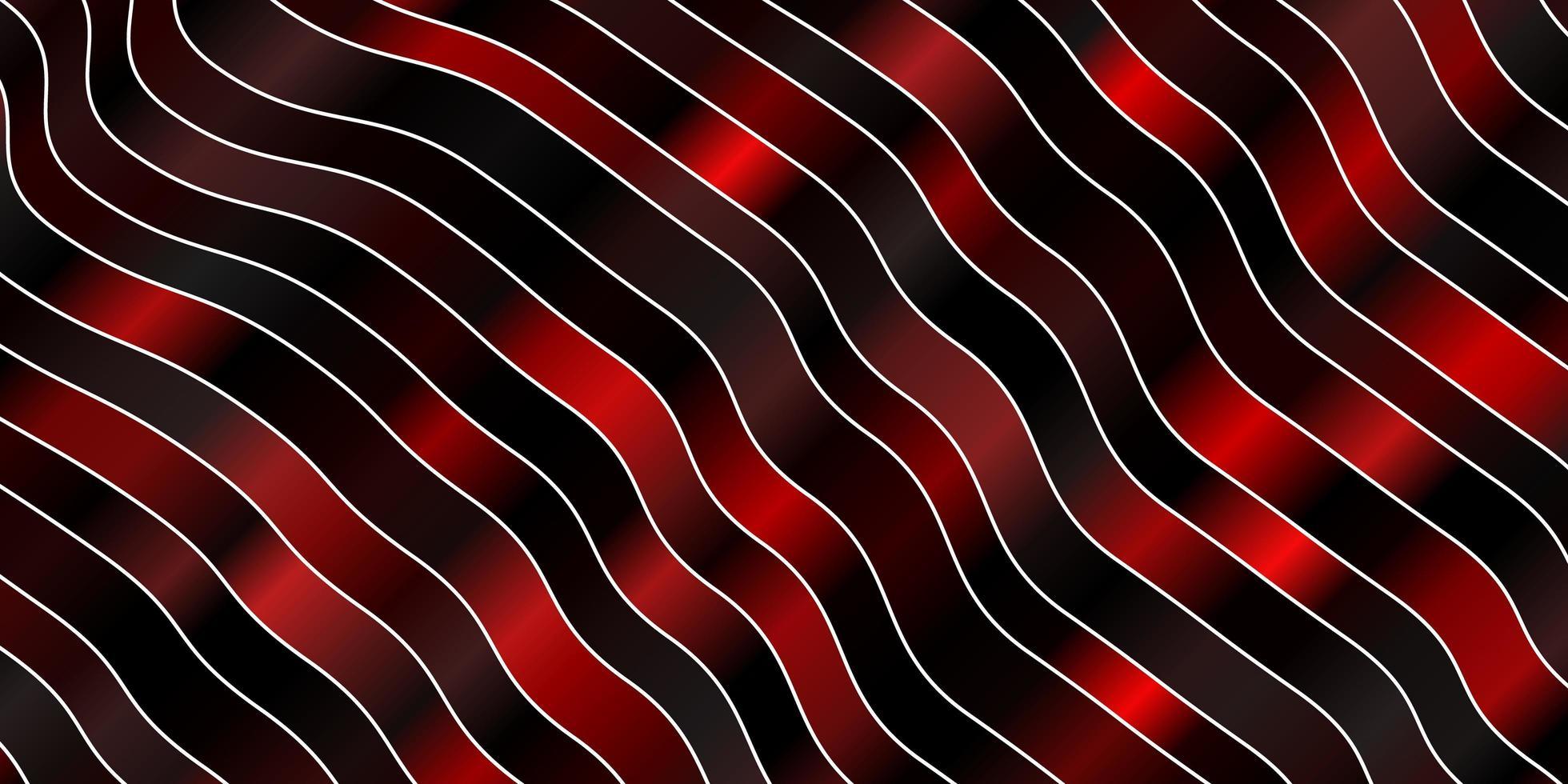 mörkrött mönster med kurvor. vektor
