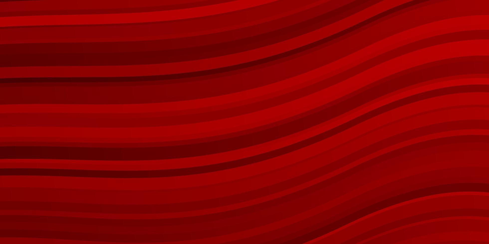 mörk röd bakgrund med böjda linjer. vektor
