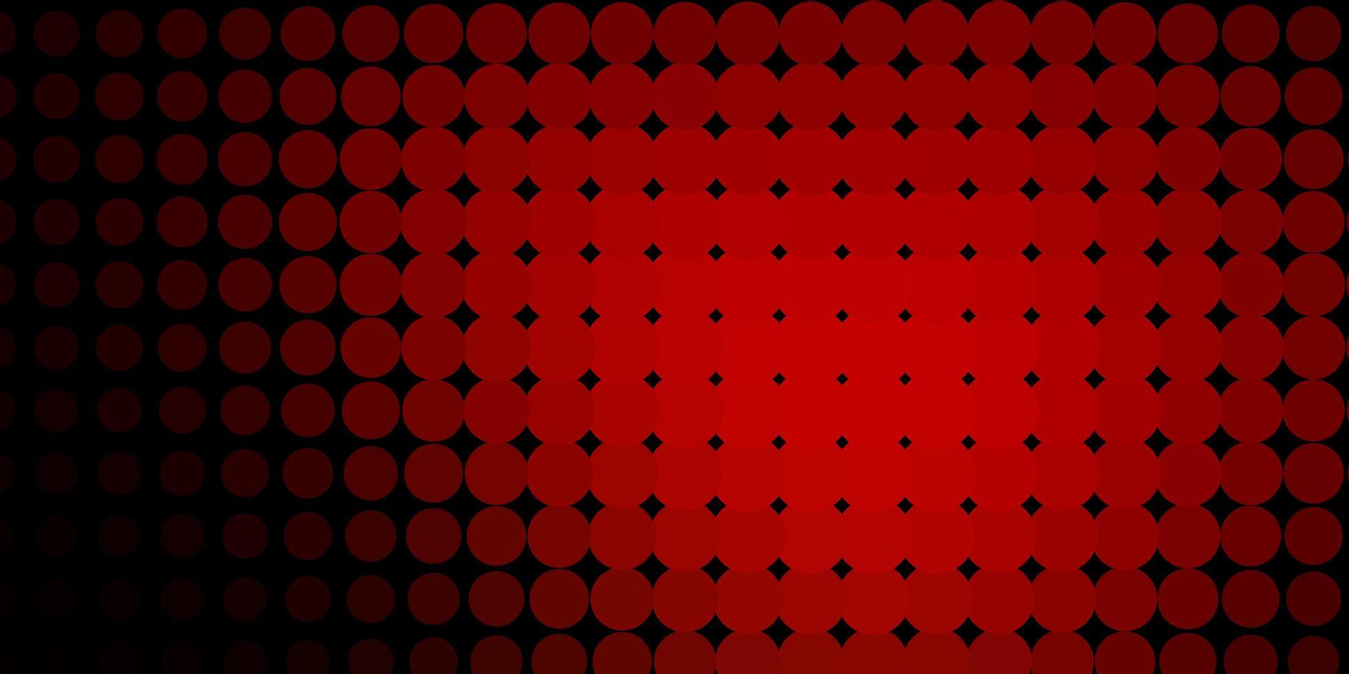 mörk röd bakgrund med cirklar. vektor