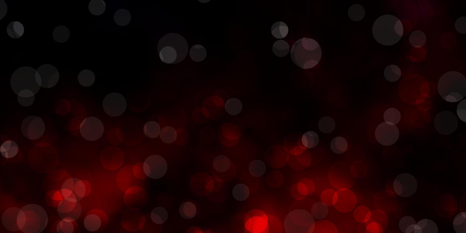 mörk röd bakgrund med bubblor. vektor