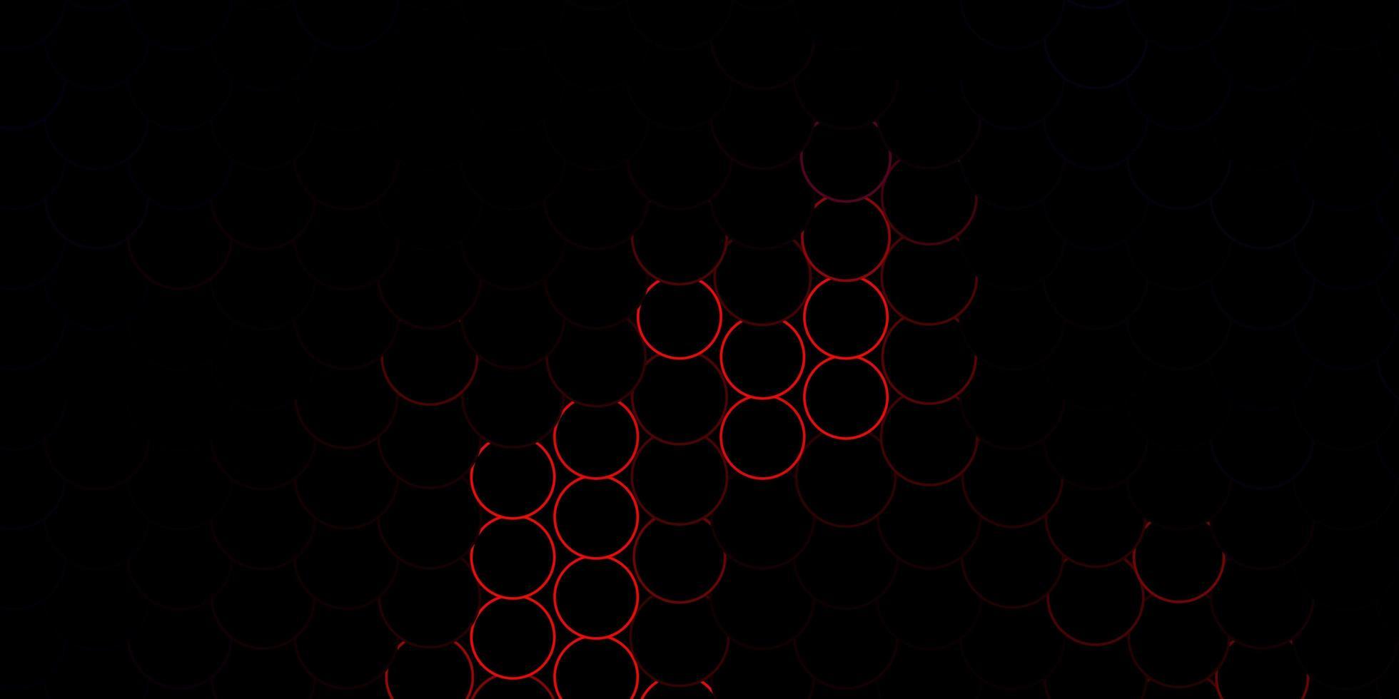 röda konturerade skivor på mörk konsistens vektor