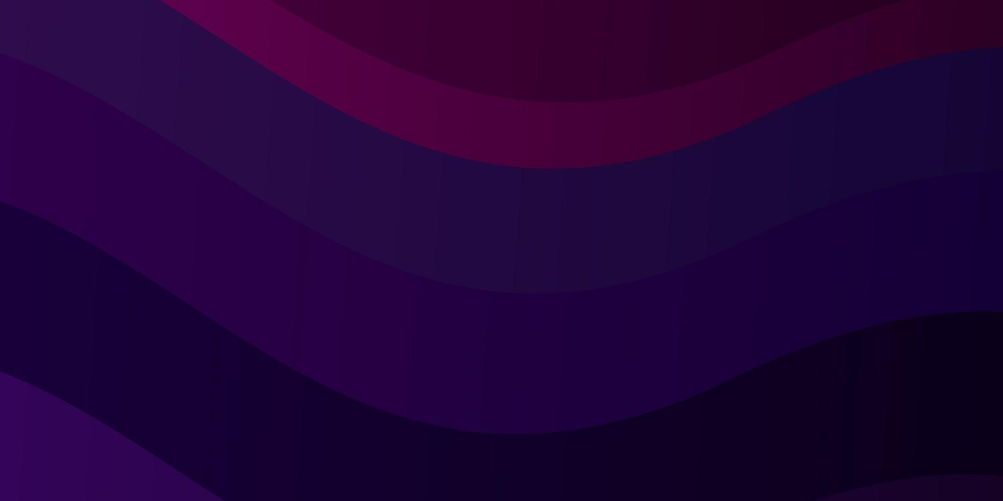 mörk lila och rosa bakgrund med böjda linjer. vektor