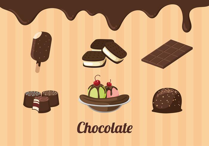 Schokolade Artikel Free Vector