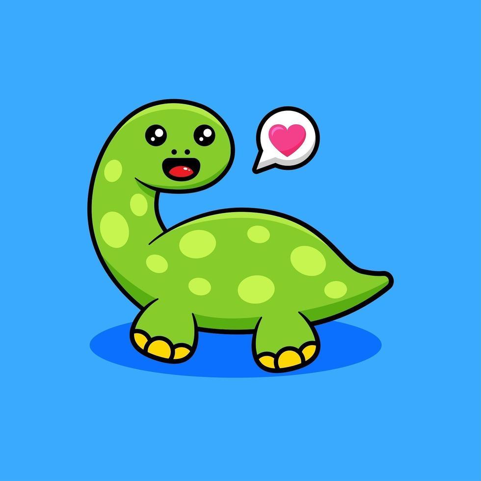 niedlicher Dinosaurier-Cartoon vektor