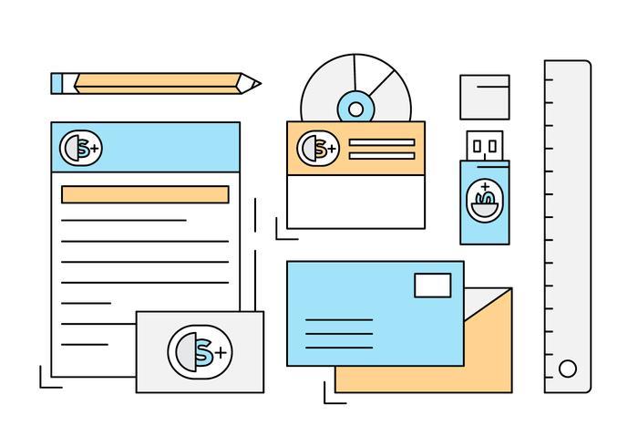 Freie Corporate Identity Business Set vektor