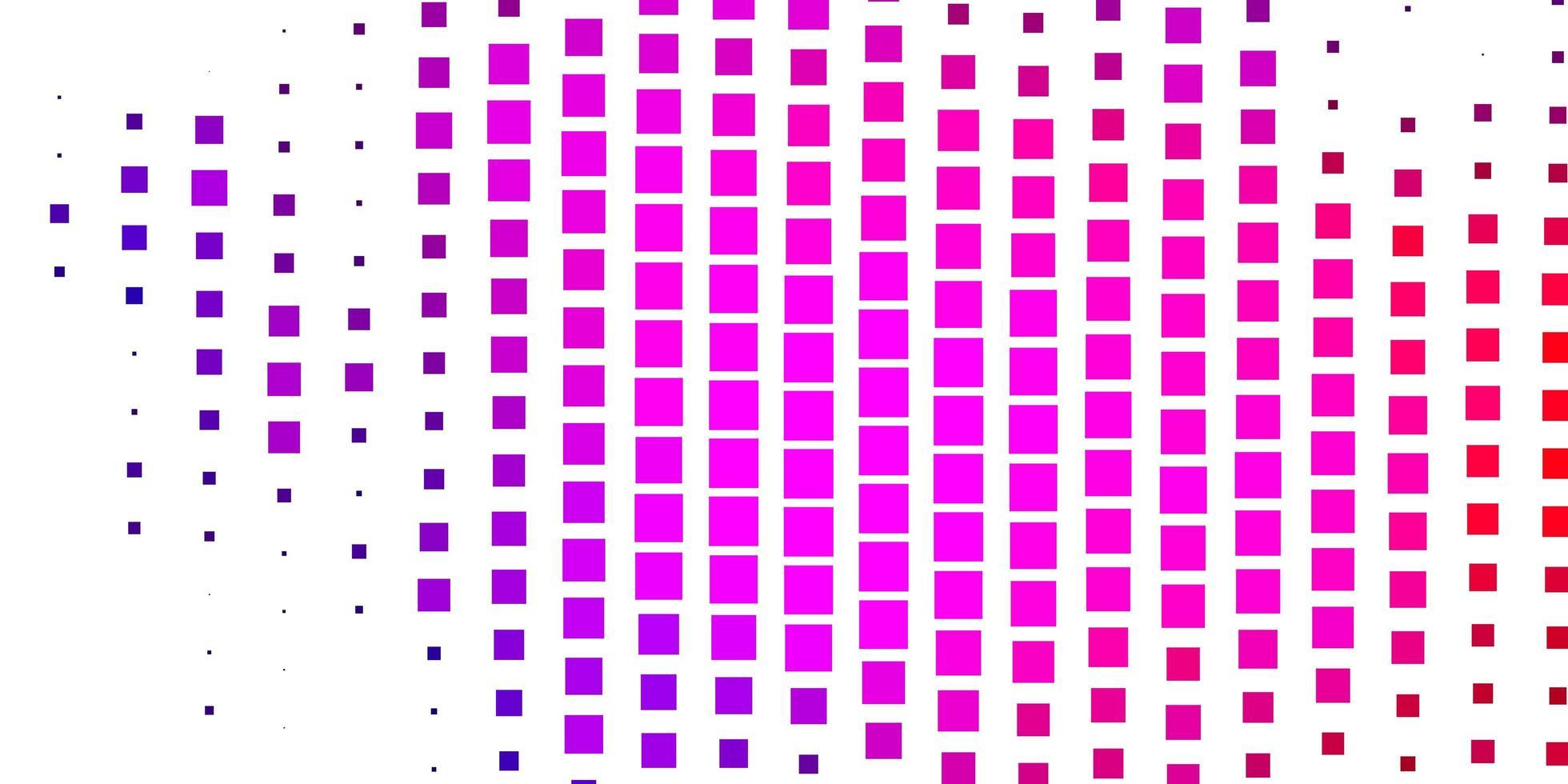 rosa, blaues und rotes Layout mit Quadraten. vektor
