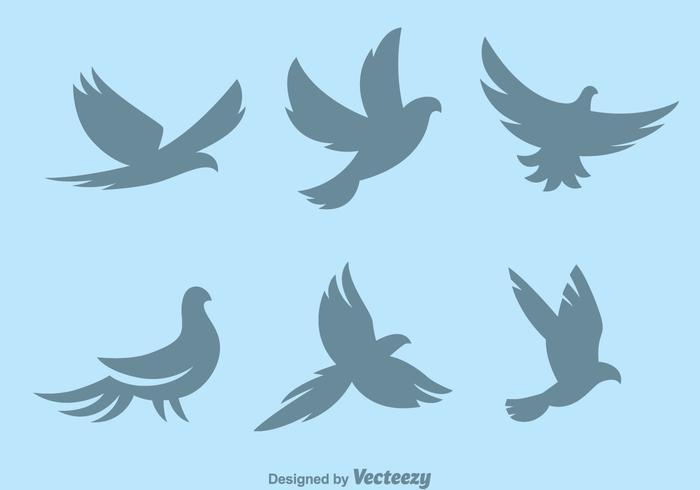 Silhuett Pigeon Symbol Vektorer