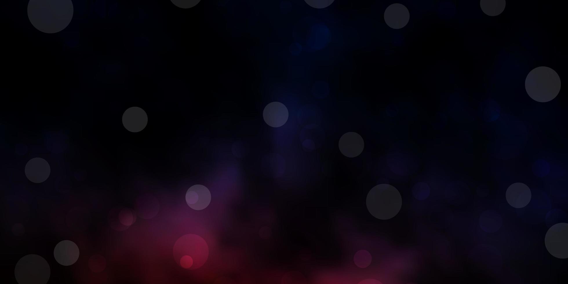 dunkelrosa und blaues Layout mit Kreisformen. vektor