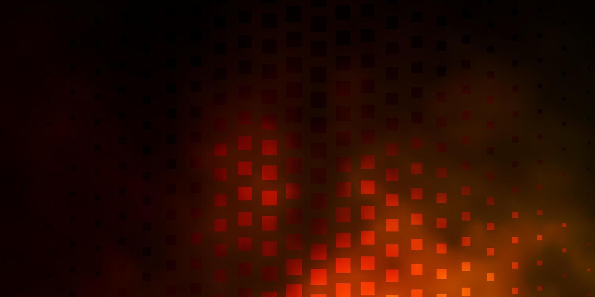 dunkelrotes und gelbes Muster im quadratischen Stil. vektor