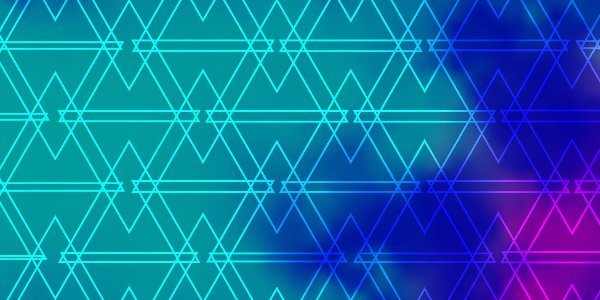 grön, rosa och blå mall med trianglar. vektor