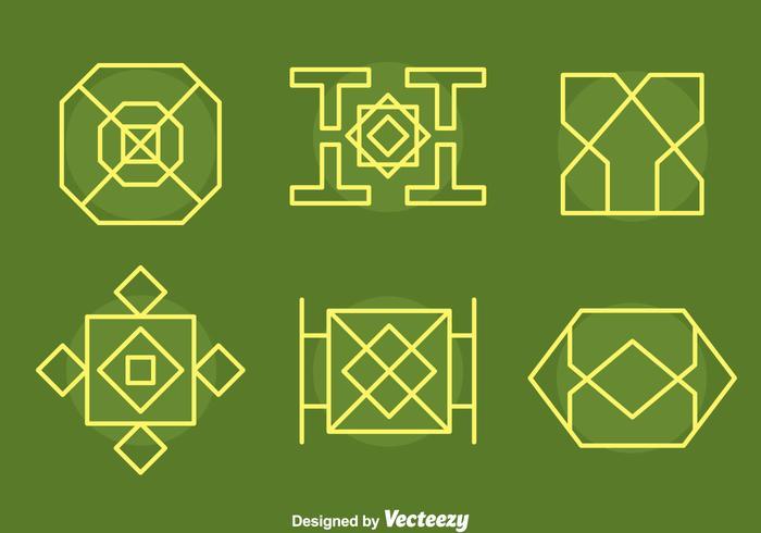 Islamische Ornament Sammlung Vektoren