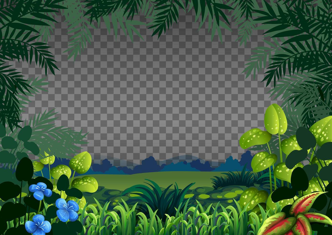 tom natur scen landskap på transparent bakgrund vektor