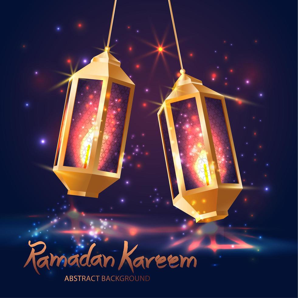 Ramadan Kareem islamische Illustration mit 3D-Laternen. vektor