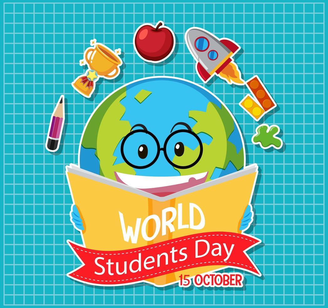 världens studentdag ikon vektor