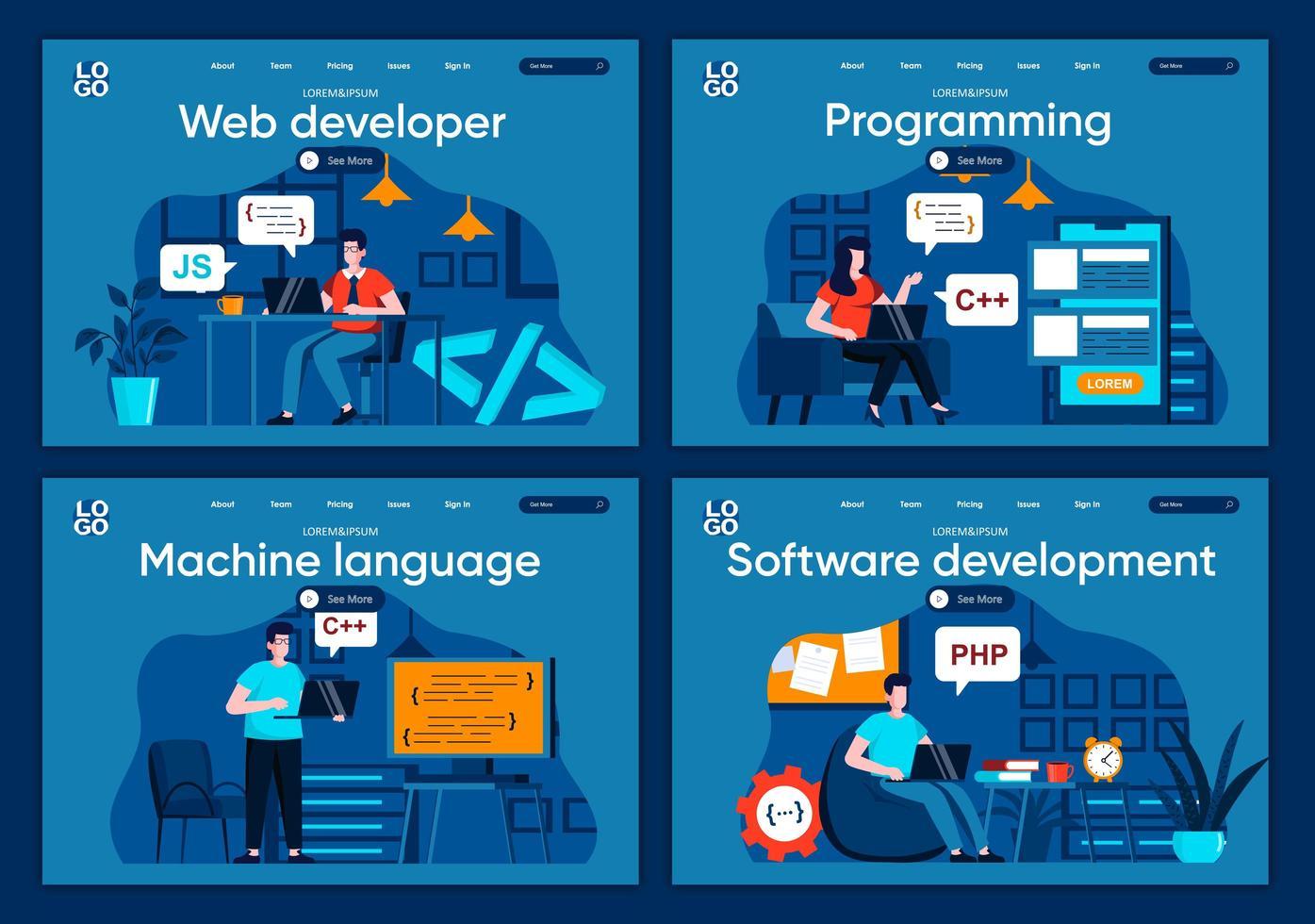 mjukvaruutveckling, plana målsidor vektor