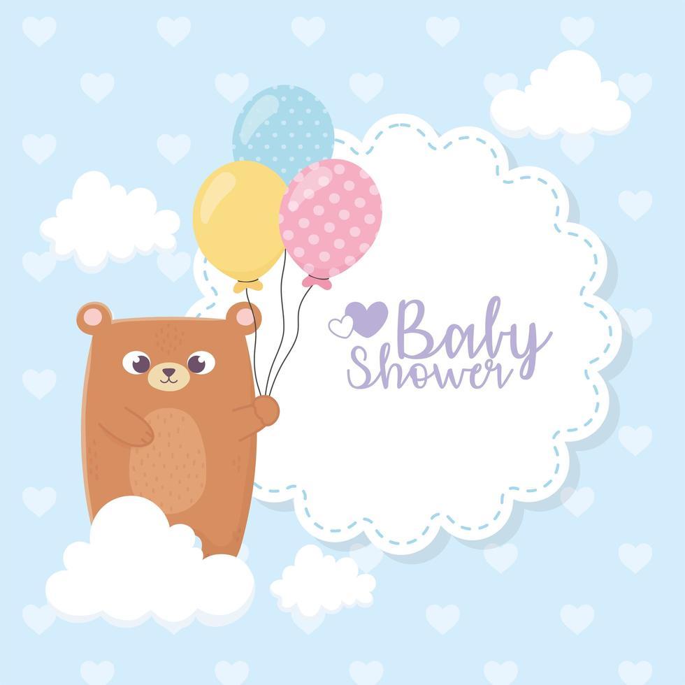 süße Babypartykarte vektor