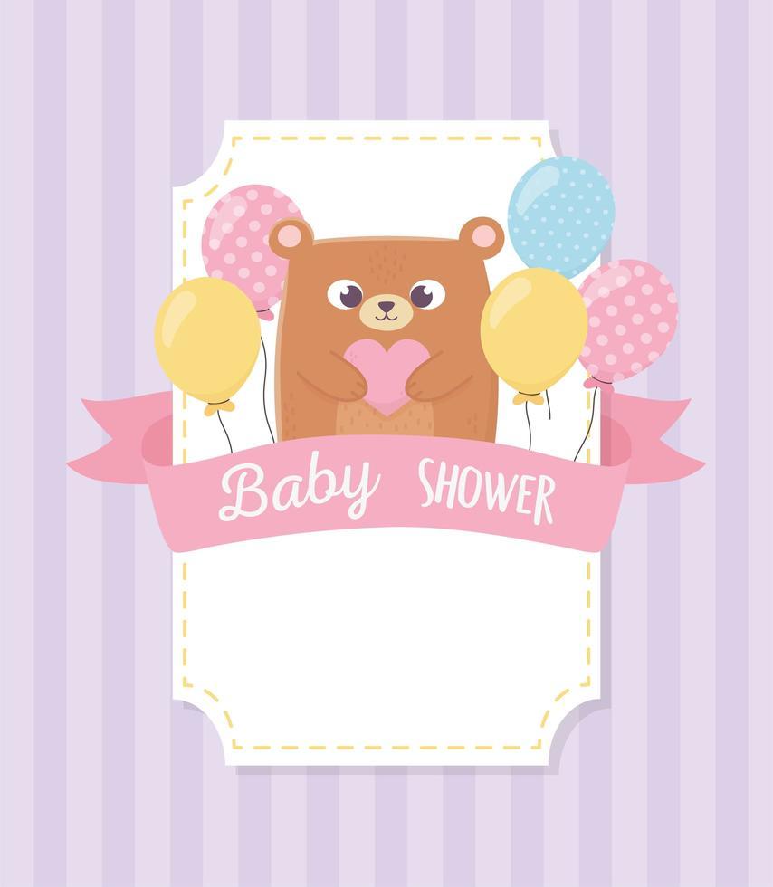 söt baby shower etikett vektor