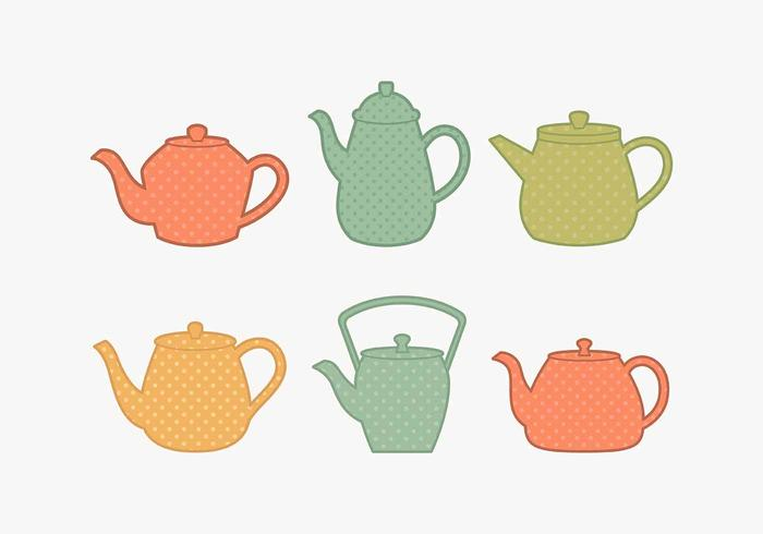 Polkadot Teapot Collection vektor