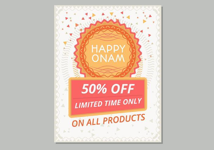 Glückliches Onam Verkauf Plakat-Schablone vektor