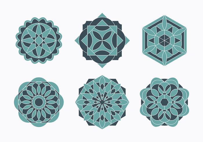 Islamische Ornamente Set vektor