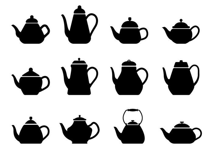 Freie Teekanne Silhouette vektor