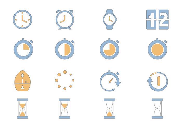 Timer-Symbol Vektor-Pack vektor