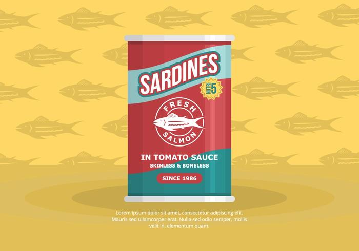 Sardine Hintergrund vektor