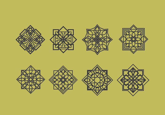 Islamische Ornamente Vektor-Dekoration vektor