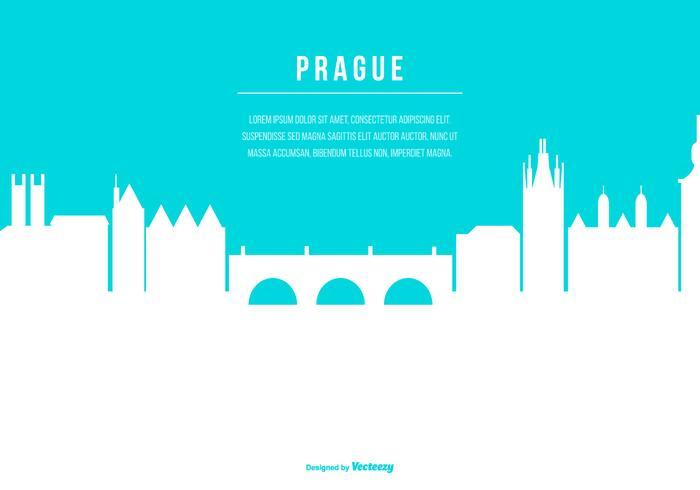Prag Skyline Illustration mit Platz für Text vektor