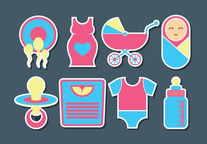 Schwangerschafts-Vektor-Icons vektor