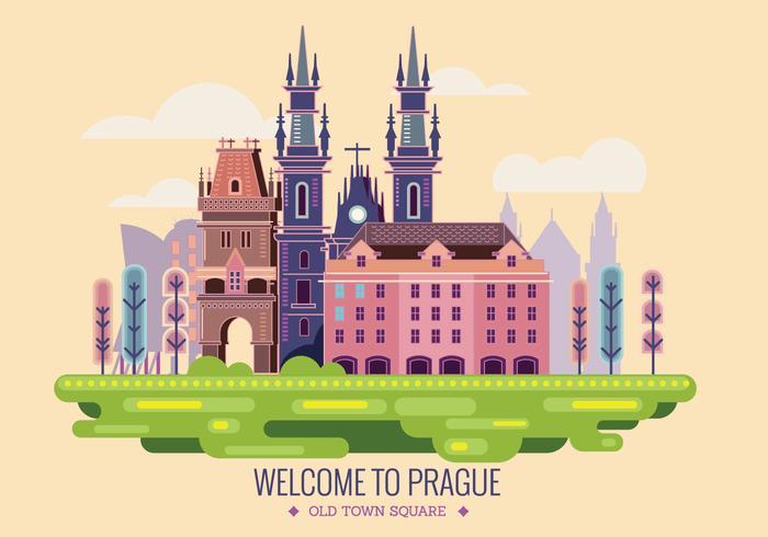 Välkommen till Prag Vector