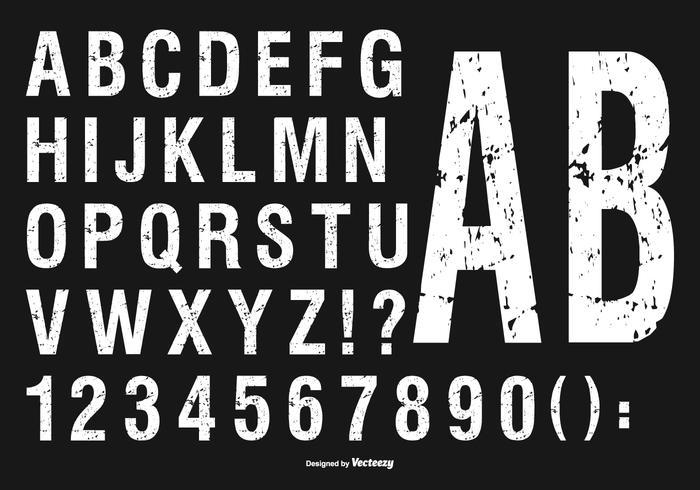 Grunge alfabetet Collection vektor