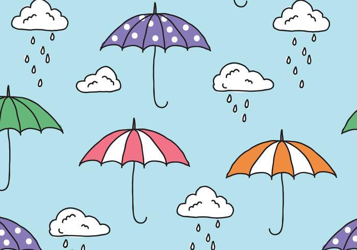 Rainy Monsoon Mönster vektor