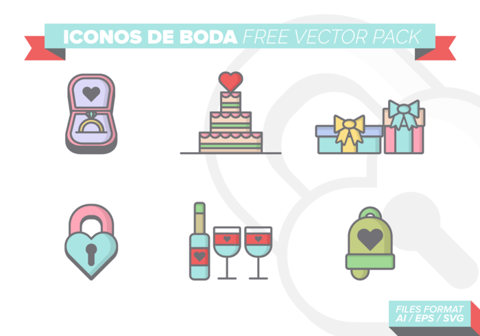 Iconos De Boda Free Vector-Pack vektor
