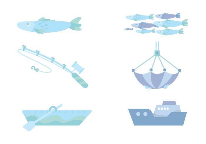 Angeln Ozean Vektor