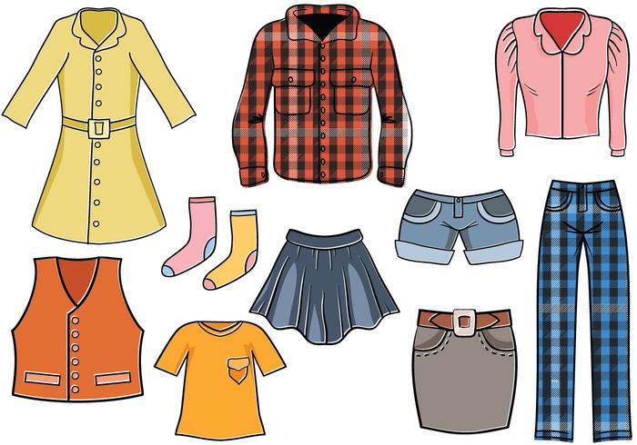Hip Kleidung Vektoren