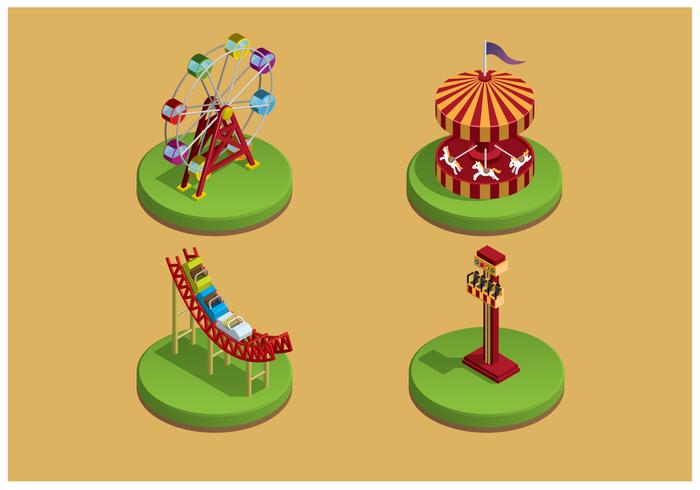 Frei Themenpark Icons Vector