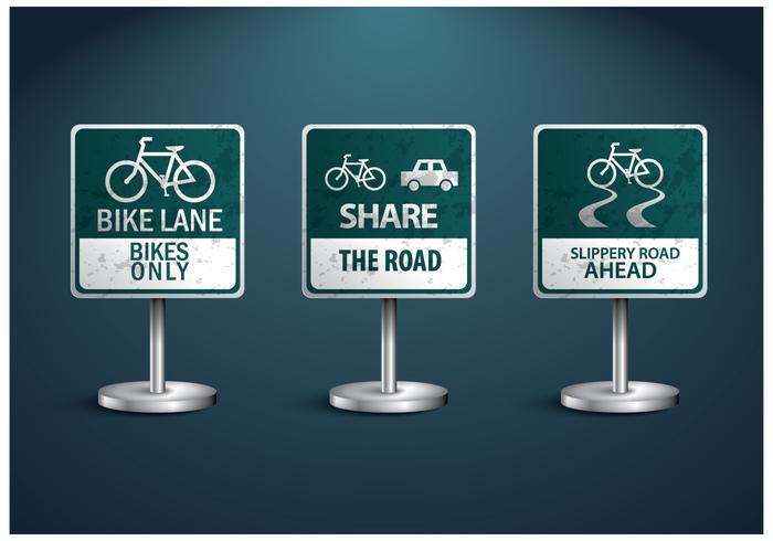 Freies Fahrrad-Zeichen Vektor