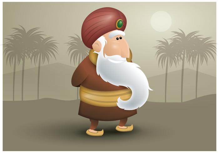 Freier Sultan Character Vector