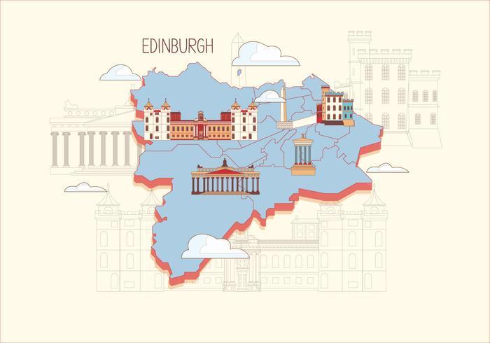 Edinburgh Karte Vector
