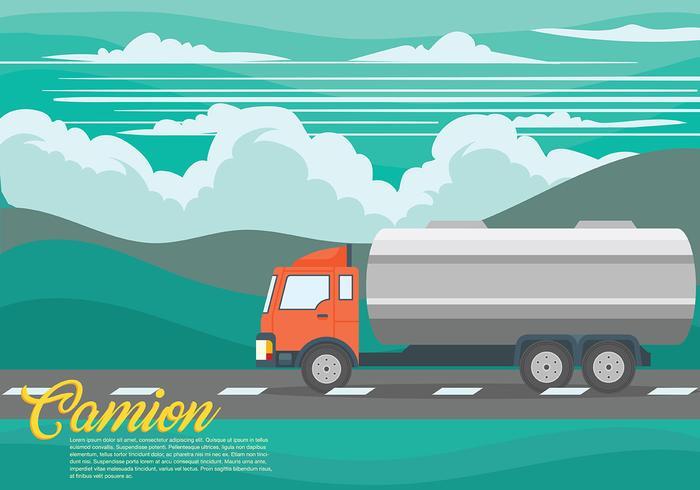 Camion-Vektor Hintergrund vektor