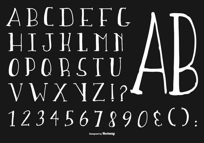 Hand Drawn Alphabet Collection vektor