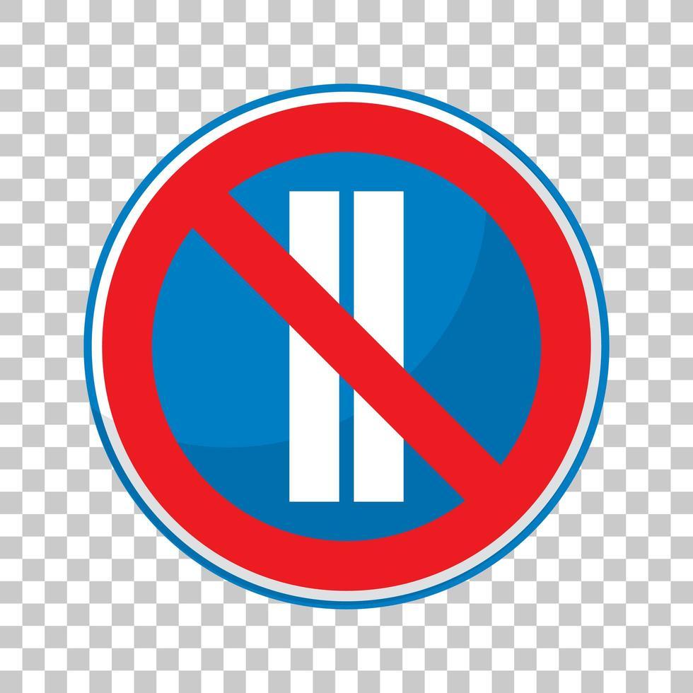 Das Parken ist an geraden Tagen auf transparentem Hintergrund verboten vektor